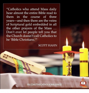The Holy Mass and the Bible