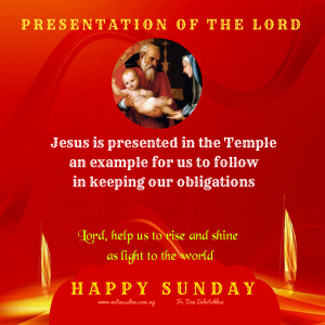 THE PRESENTATION OF THE LORD