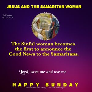 THIRD SUNDAY OF LENT YEAR A