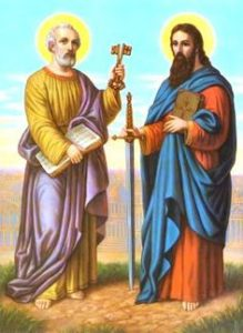 Homily For the solemnity of St. Peter and St. Paul.