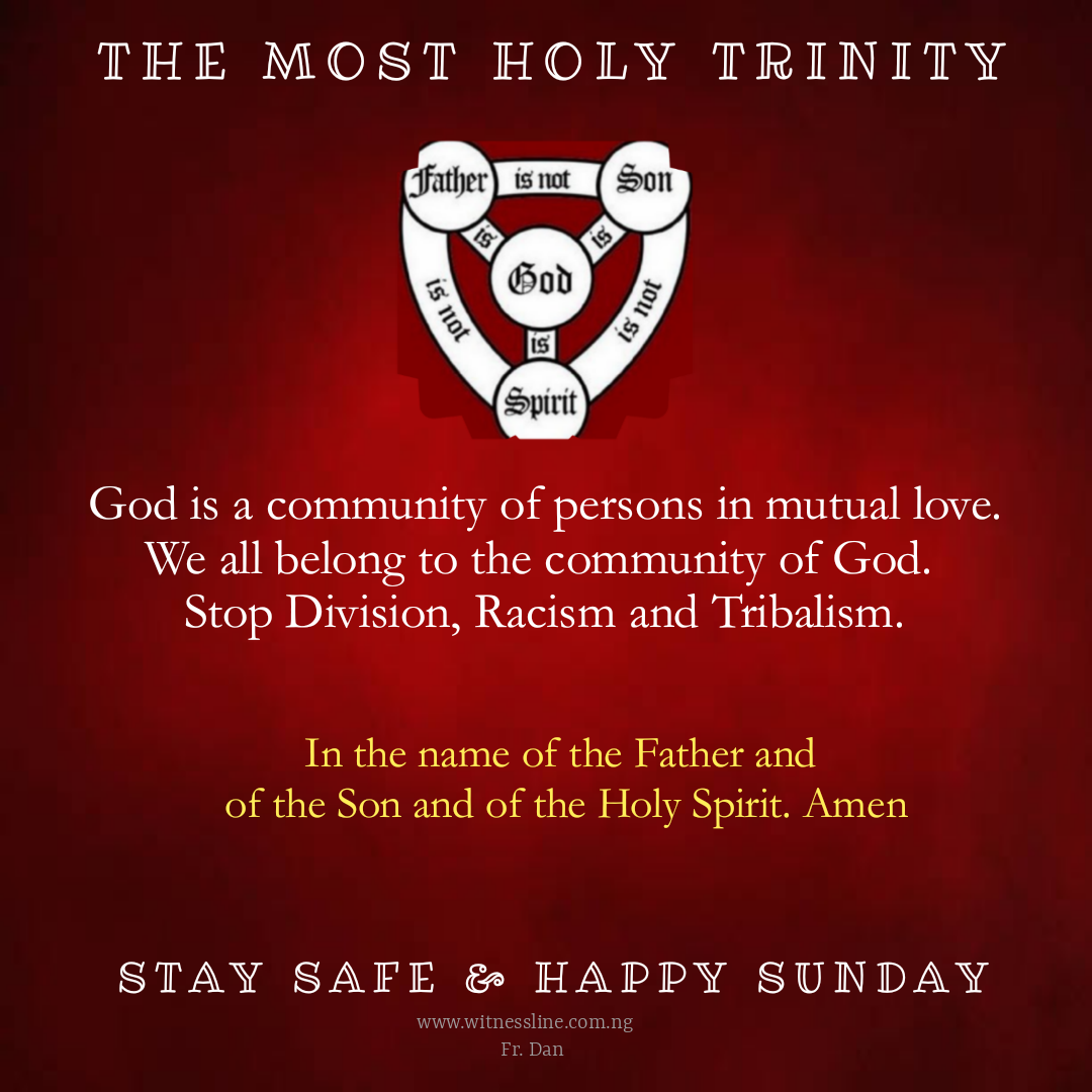 HOMILY FOR THE SOLEMNITY OF THE MOST HOLY TRINITY, YEAR A (JUNE 7, 2020)
