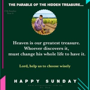 HOMILY FOR SEVENTEENTH SUNDAY IN ORDINARY TIME (YEAR A), JULY 26, 2020