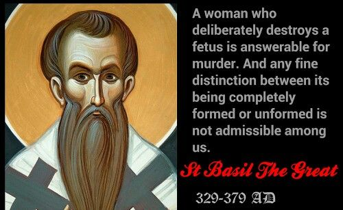 ABORTION: LESSONS FROM THE CHURCH FATHERS