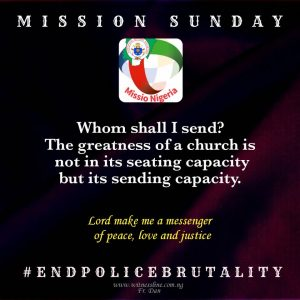 HOMILY FOR MISSION SUNDAY (OCTOBER 18, 2020)