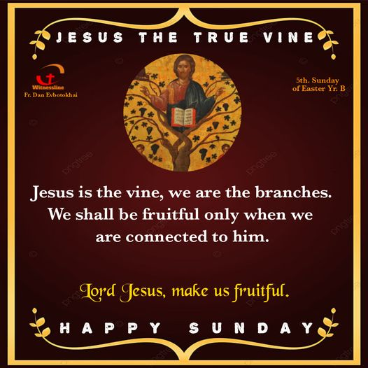 HOMILY FOR THE FIFTH SUNDAY OF EASTER YEAR B(2/5/2021)