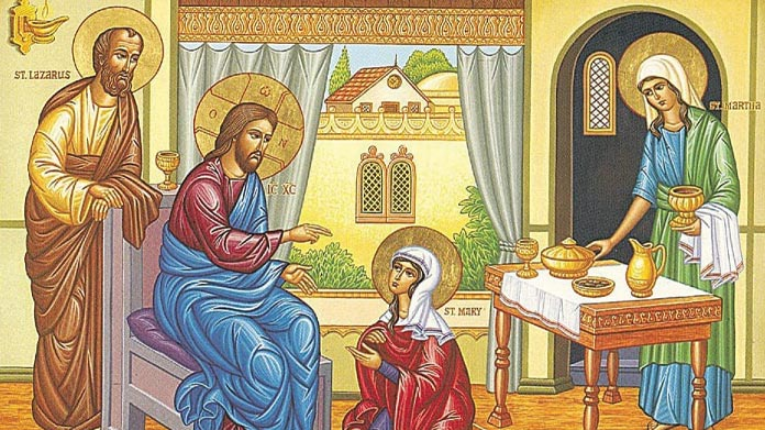 HOMILY FOR THE MEMORIAL OF SAINTS MARTHA, MARY AND LAZARUS (29/7/2021)